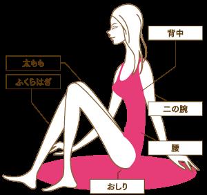 毛孔性苔癬の代表的な部位