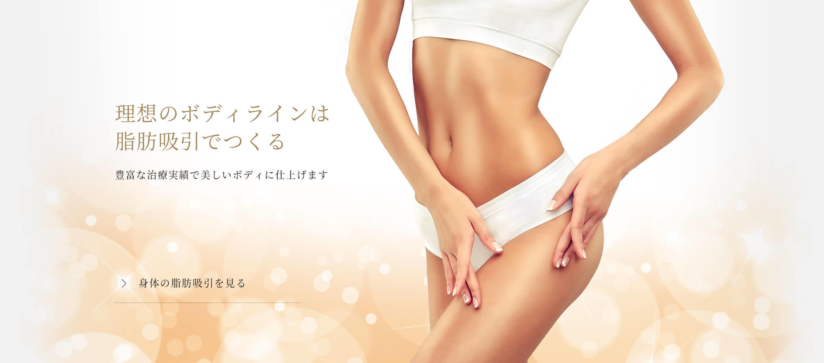 理想のボディラインは脂肪吸引で作る 豊富な治療実績で美しいボディラインに仕上げます
